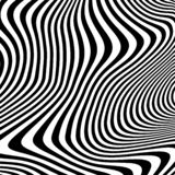 Abstrakcjonistyczny geometryczny wzór z wizualnym wykoślawienie skutkiem ilustracji