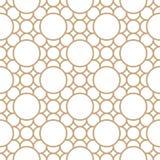 Abstrakcjonistyczny geometryczny złocisty deco sztuki ornamentu wzór royalty ilustracja