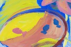 abstrakcjonistyczny goldfish Zdjęcie Royalty Free