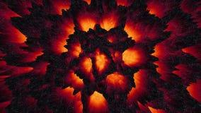 Abstrakcjonistyczny gorący lawowy magmy tła ciemnej sprawy sposób piekło ilustracja wektor