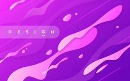 Abstrakcjonistyczny gradientowy geometryczny projekt, kolorowy falisty minimalny backgr royalty ilustracja