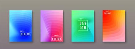 Abstrakcjonistyczny gradientowy tło z geometrycznymi kolorów kształtami Minimalny chłodno pokrywa projekt royalty ilustracja