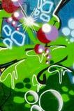 Abstrakcjonistyczny graffiti tło Fotografia Royalty Free