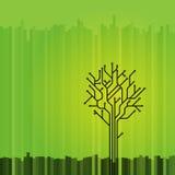 abstrakcjonistyczny graficzny drzewo Zdjęcia Stock