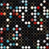 Abstrakcjonistyczny grunge światła okrąg bezszwowy Zdjęcie Stock