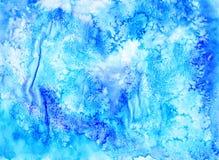 Abstrakcjonistyczny grunge aquarelle tło Rękodzieło tekstura Woda Obraz Stock