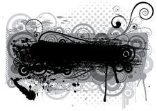 Abstrakcjonistyczny grunge czerni muśnięcia projekt Zdjęcie Stock