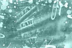 Abstrakcjonistyczny grunge kolaż - dolara amerykańskiego tło Obrazy Royalty Free