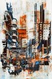 Abstrakcjonistyczny grunge pejzaż miejski Zdjęcia Stock