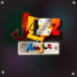 Abstrakcjonistyczny grunge tło z tekst jazzową muzyką Fotografia Royalty Free