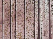 Abstrakcjonistyczny grunge tekstury metalu powierzchni menchii kolor z pionowo ulga lampasami i wszystko w rdzy z graniastą kawał Fotografia Stock