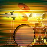 Abstrakcjonistyczny grunge tło z bębenu zestawem Fotografia Royalty Free