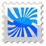 Abstrakcjonistyczny grunge znaczek Obraz Stock