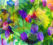 Abstrakcjonistyczny guasch obraz Zdjęcia Stock