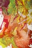Abstrakcjonistyczny guaszu zawijas Obrazy Royalty Free