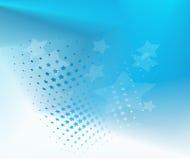 Abstrakcjonistyczny gwiaździsty błękitny tło Zdjęcie Royalty Free