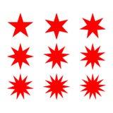 Abstrakcjonistyczny gwiazda kształt z rozmaitością wskazującą Fotografia Stock