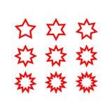 Abstrakcjonistyczny gwiazda kształt z rozmaitością wskazującą Obrazy Stock