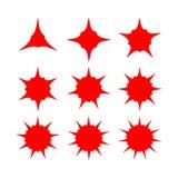 Abstrakcjonistyczny gwiazda kształt z rozmaitością wskazującą Zdjęcie Royalty Free