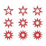 Abstrakcjonistyczny gwiazda kształt z rozmaitością wskazującą Obraz Royalty Free