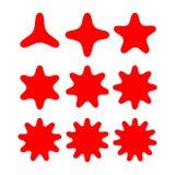 Abstrakcjonistyczny gwiazda kształt z rozmaitością wskazującą Fotografia Royalty Free