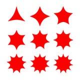 Abstrakcjonistyczny gwiazda kształt z rozmaitością wskazującą Zdjęcie Stock