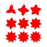 Abstrakcjonistyczny gwiazda kształt z rozmaitością wskazującą Zdjęcia Royalty Free