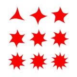 Abstrakcjonistyczny gwiazda kształt z rozmaitością wskazującą Obrazy Royalty Free