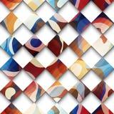 Abstrakcjonistyczny gwometric wzór od rhombus Zdjęcie Royalty Free
