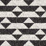 Abstrakcjonistyczny hałaśliwie textured geometryczny kształta tło Wektorowy bezszwowy grungy wzór Fotografia Royalty Free