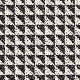 Abstrakcjonistyczny hałaśliwie textured geometryczny kształta tło Wektorowy bezszwowy grungy wzór Obraz Royalty Free