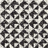 Abstrakcjonistyczny hałaśliwie textured geometryczny kształta tło Wektorowy bezszwowy grungy wzór Obrazy Royalty Free