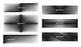 Abstrakcjonistyczny halftone wykłada sztandary Zdjęcie Stock