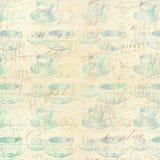 Abstrakcjonistyczny herbacianej filiżanki tło Zdjęcie Royalty Free