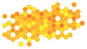 Abstrakcjonistyczny honeycomb tło Zdjęcia Royalty Free
