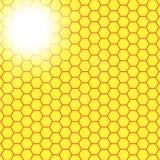 Abstrakcjonistyczny honeycomb tło rozmyty światło ilustracji