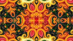 Abstrakcjonistyczny i kolorowy kwiaciasty projekt ilustracja wektor
