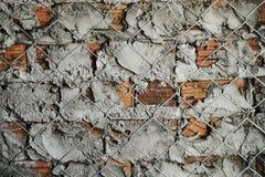 Abstrakcjonistyczny i stary czerwony ściana z cegieł tekstury tło Grungy wa Obrazy Stock