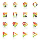 abstrakcjonistyczny ikon loga szablonu wektor Obrazy Royalty Free