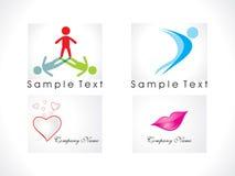 abstrakcjonistyczny ikony loga set Zdjęcie Royalty Free