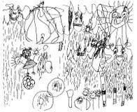 Abstrakcjonistyczny ilustracja stylu 3 roczniaka dziecko ilustracja wektor
