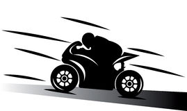 abstrakcjonistyczny ilustracyjny motocyklu spee ślad Zdjęcie Royalty Free