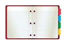 abstrakcjonistyczny ilustracyjny notatnika papieru wektor ilustracja wektor