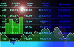 Abstrakcjonistyczny ilustracyjny tło pomyślna inwestycja z rynek papierów wartościowych wskaźnika przyrostem obraz royalty free