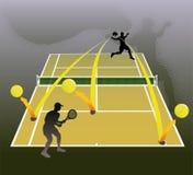 abstrakcjonistyczny ilustracyjny tenis Obrazy Stock