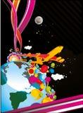 abstrakcjonistyczny ilustracyjny wszechświat ilustracji