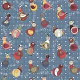 Abstrakcjonistyczny indyczy ptak, kurczak i gołąb, Zdjęcia Stock