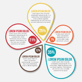 Abstrakcjonistyczny Infographic wektoru szablon Fotografia Stock