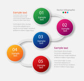 Abstrakcjonistyczny infographics liczby opcj szablon Fotografia Royalty Free