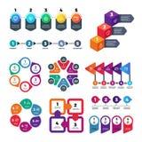 Abstrakcjonistyczny infographics liczby opcj szablon Ewidencyjna mapa, obieg marketingowy diagram z kroka wektoru setem ilustracji